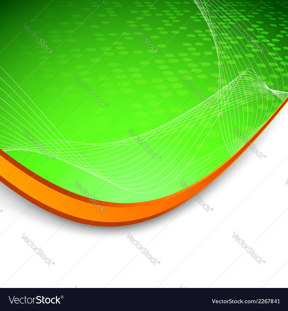 Green wave background with border vector | Price: 1 Credit (USD $1)