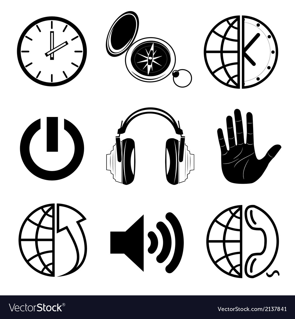 Icons of media vector | Price: 1 Credit (USD $1)
