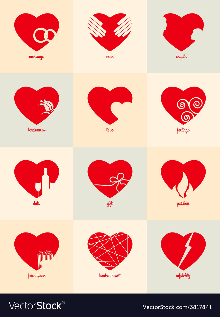 Infographic for valentines day vector | Price: 1 Credit (USD $1)