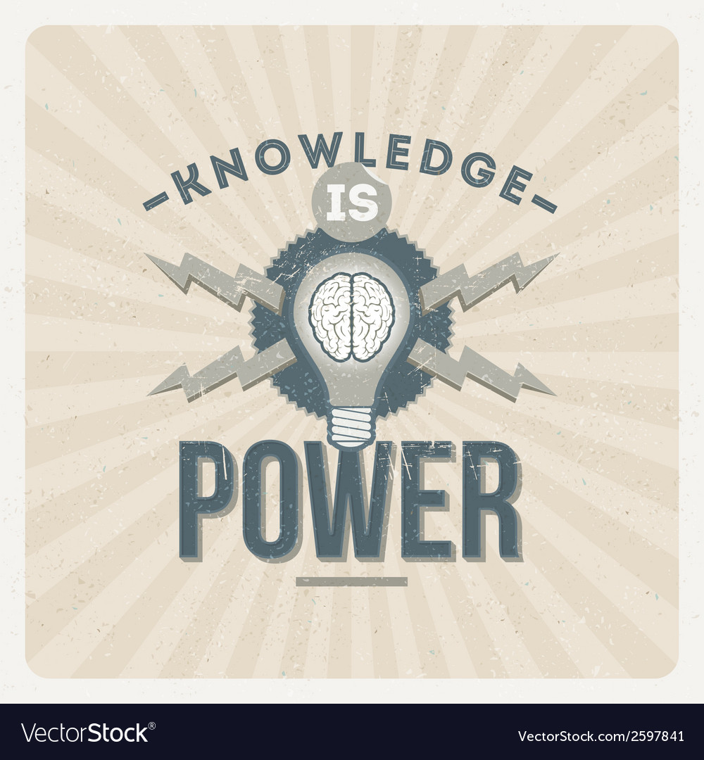 Knowledge is power - quote type design vector | Price: 1 Credit (USD $1)