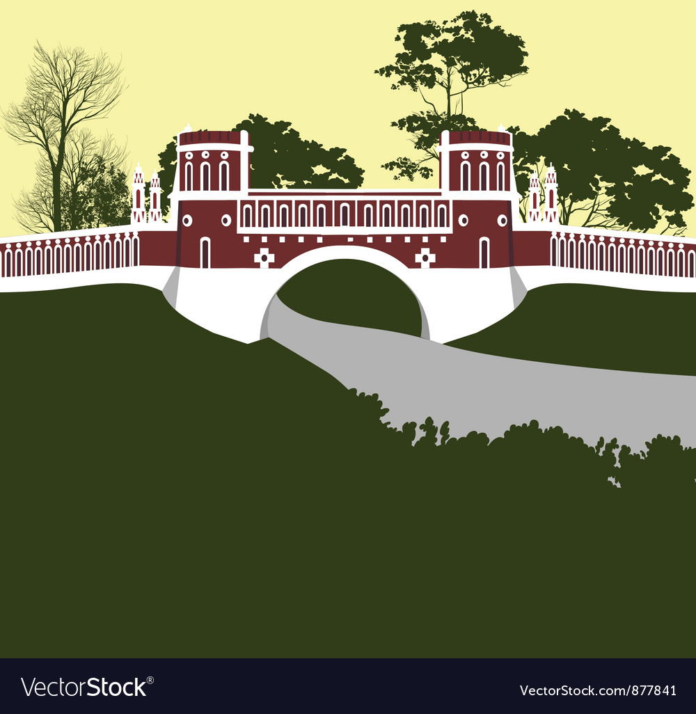 Moscow tsaritsino palace bridge vector | Price: 3 Credit (USD $3)
