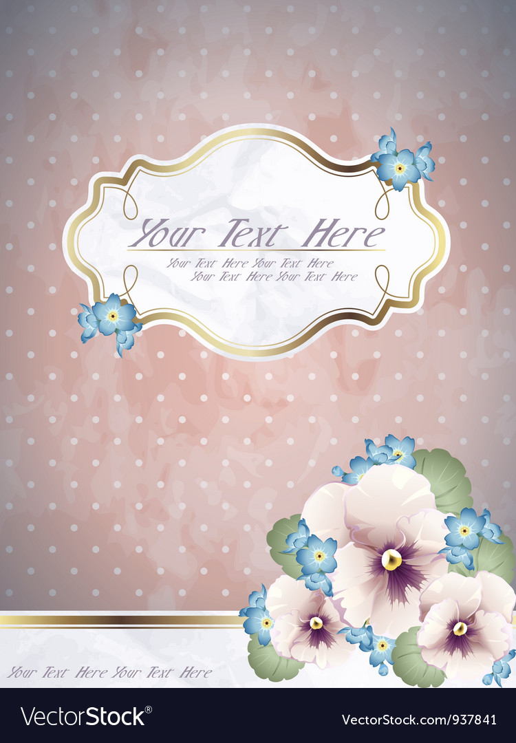Romantic pink vintage banner with flowers vector | Price: 1 Credit (USD $1)