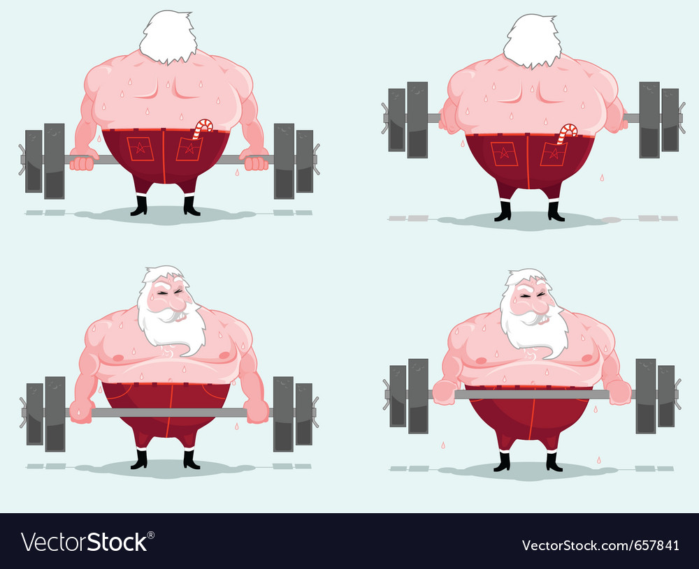 Santa workout vector | Price: 3 Credit (USD $3)