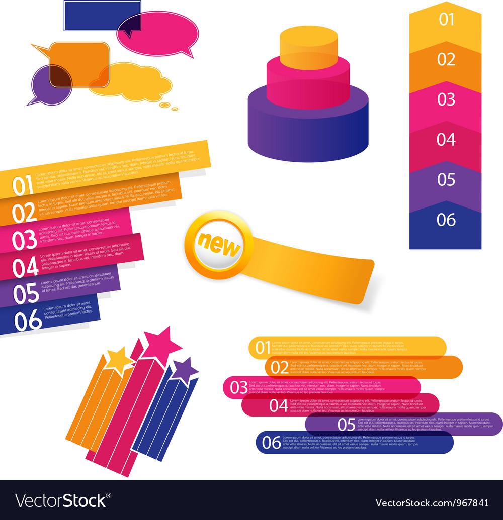 Set of colorful labels vector   Price: 1 Credit (USD $1)