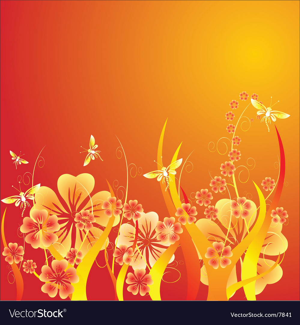 Springtime flowers vector | Price: 1 Credit (USD $1)