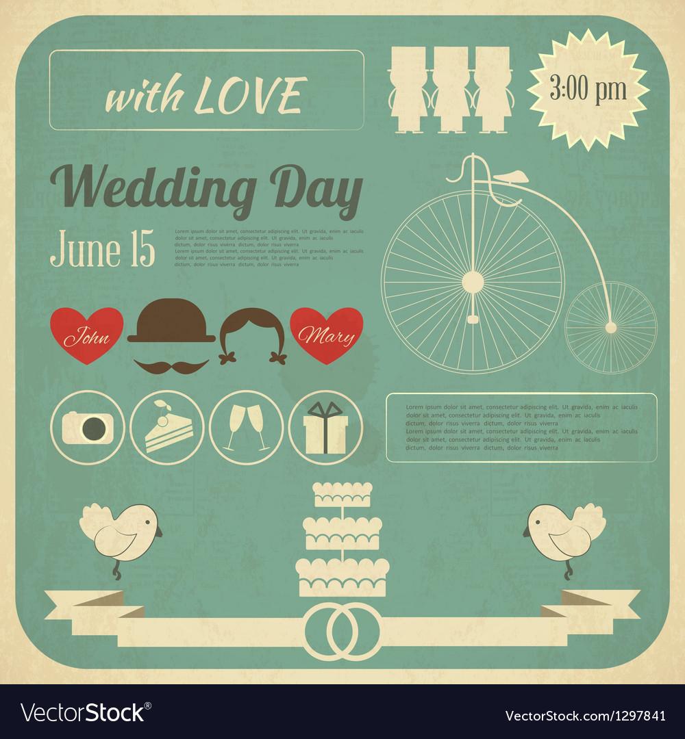 Wedding invitation infographics card vector | Price: 1 Credit (USD $1)