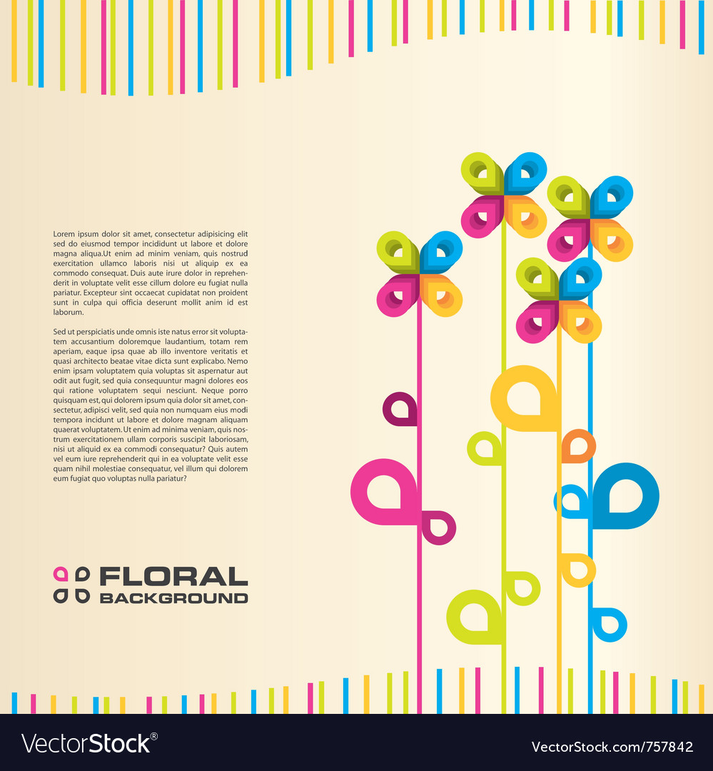 Abstract floral layout background vector | Price: 1 Credit (USD $1)