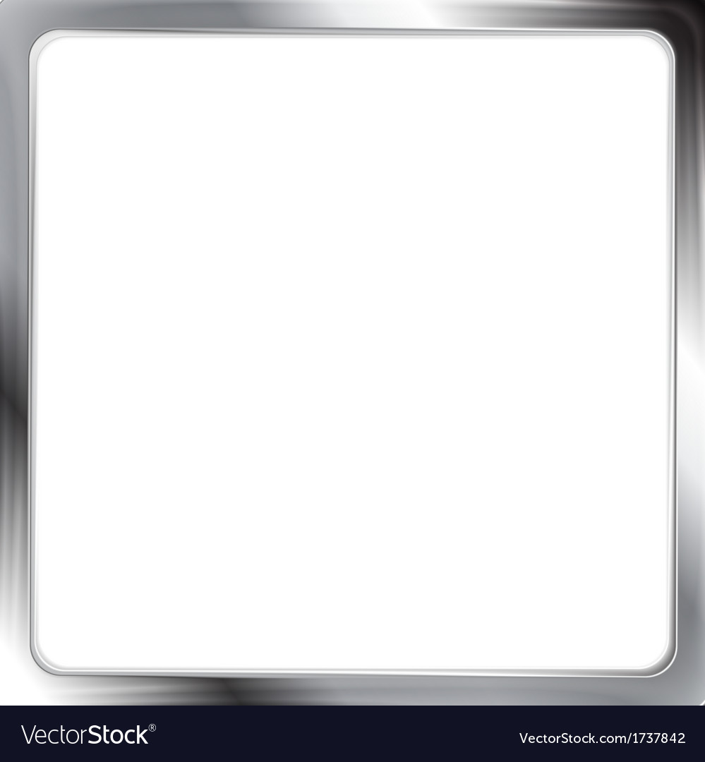 Abstract metallic silver frame vector | Price: 1 Credit (USD $1)