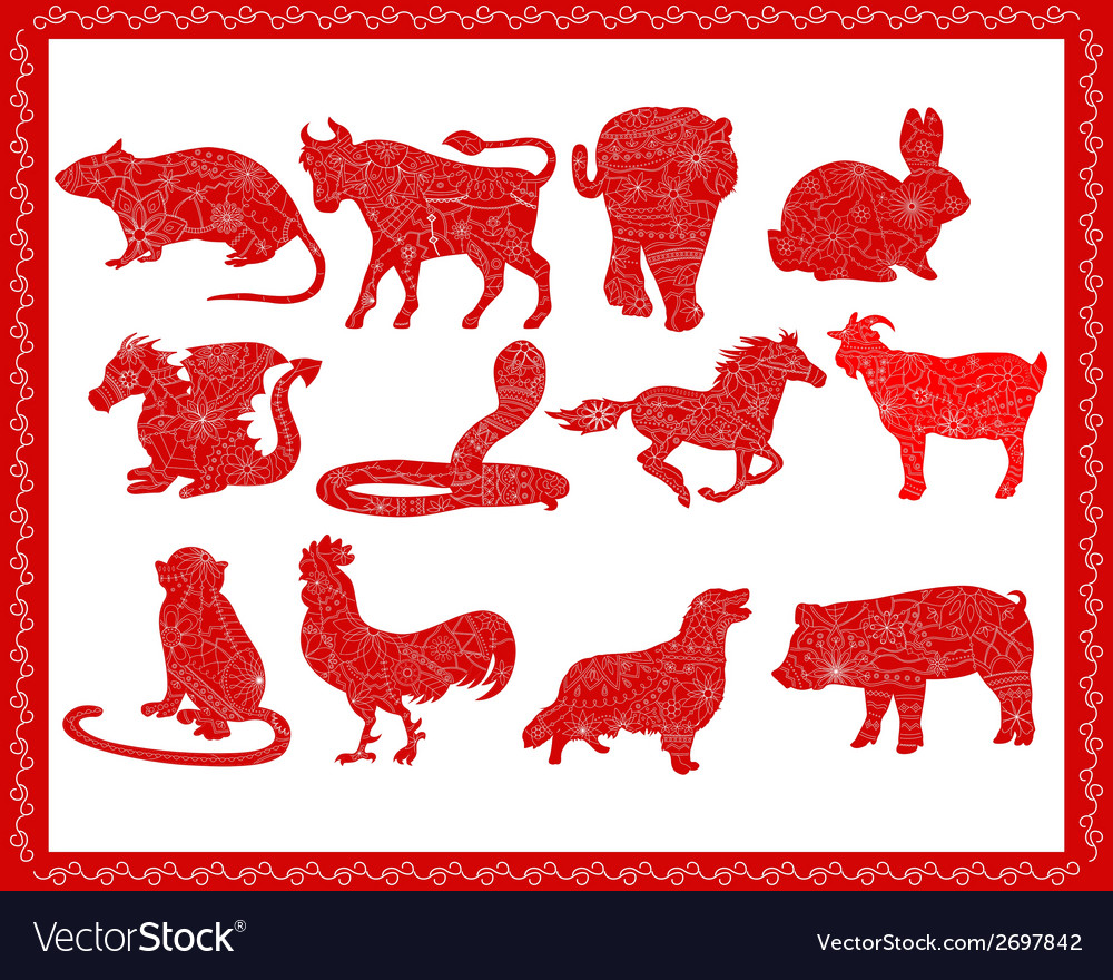 Chinese horoscope vector | Price: 1 Credit (USD $1)