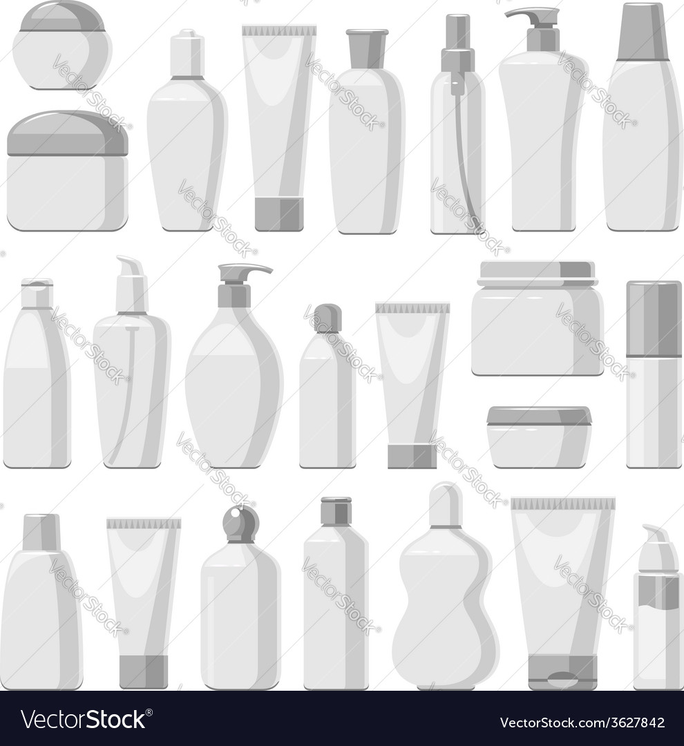 Cosmetic monochrome vector | Price: 1 Credit (USD $1)