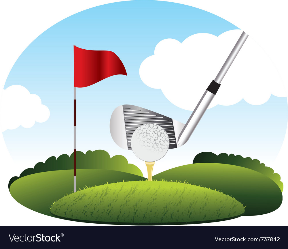 Golf kick the ball vector | Price: 3 Credit (USD $3)