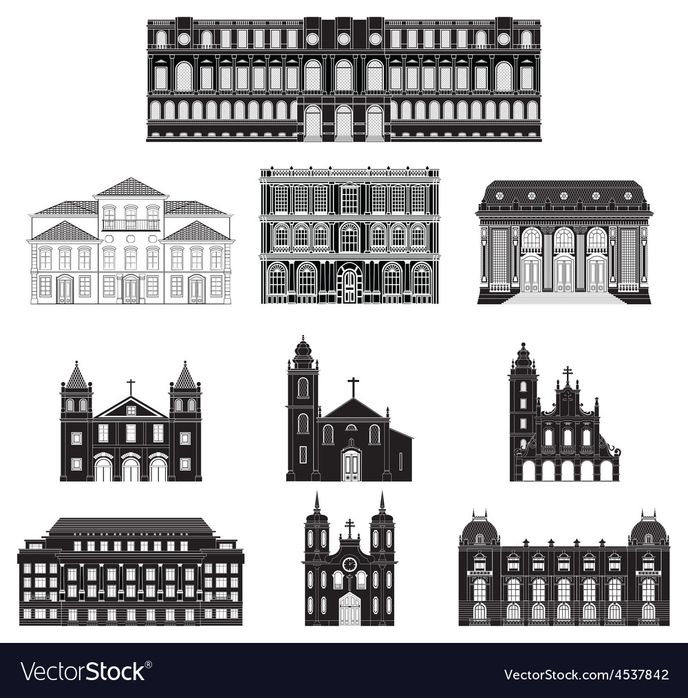 Old architecture vector | Price: 1 Credit (USD $1)