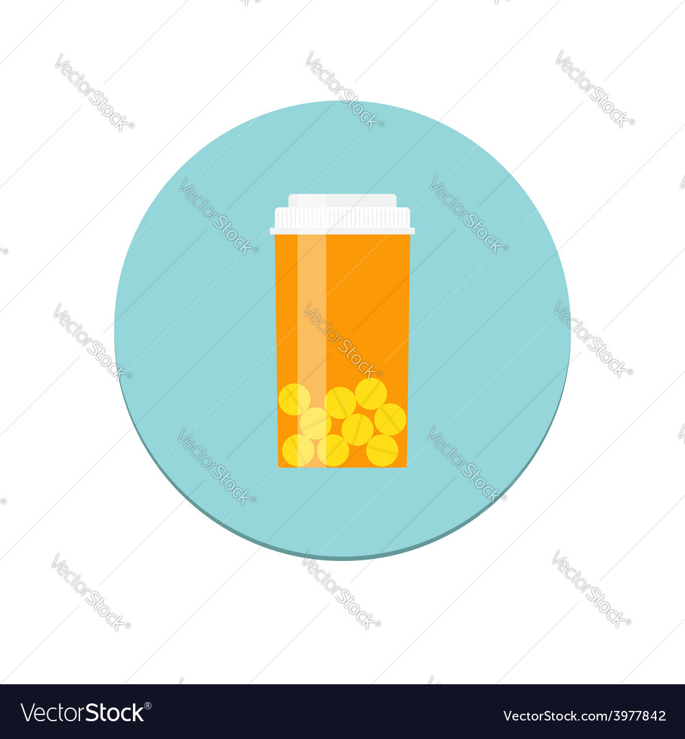 Prescription bottle icon vector | Price: 1 Credit (USD $1)