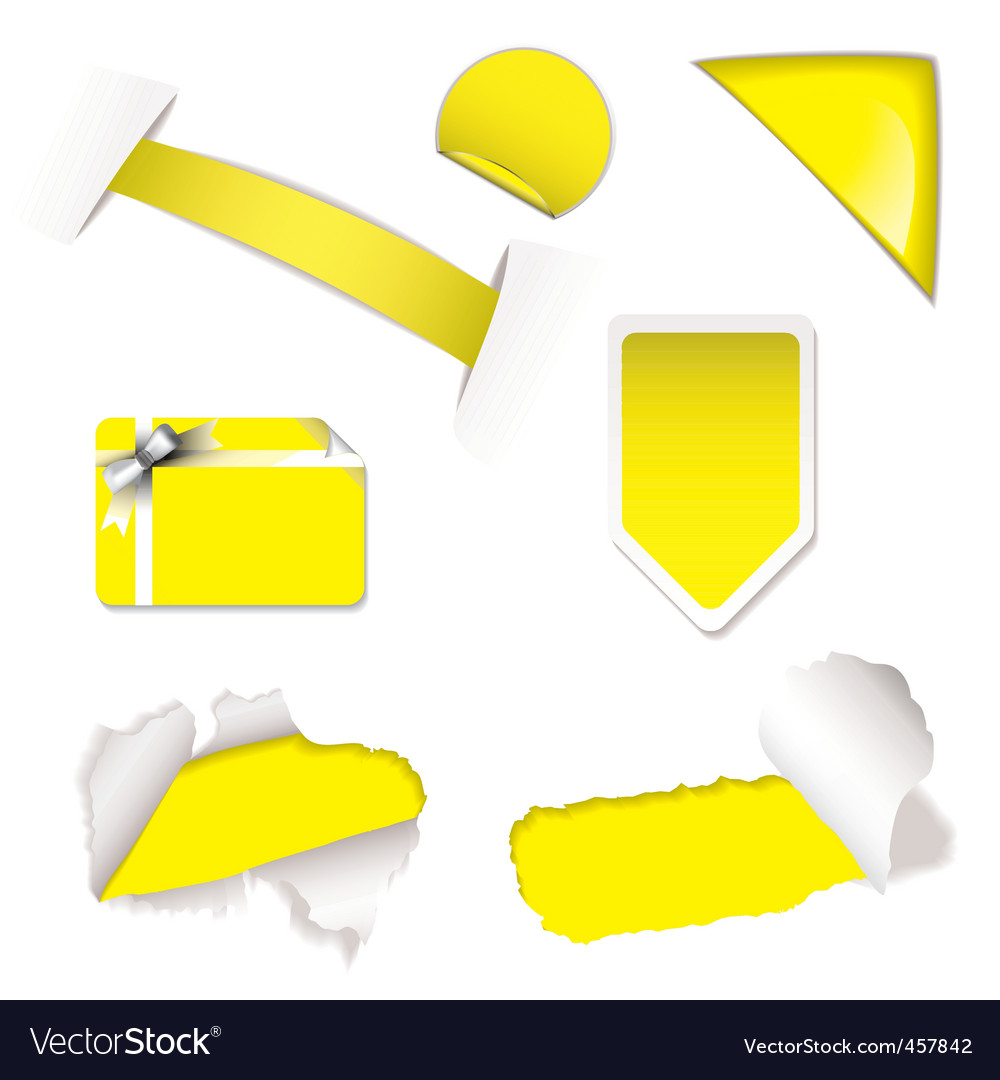 Shop sale elements yellow vector | Price: 1 Credit (USD $1)