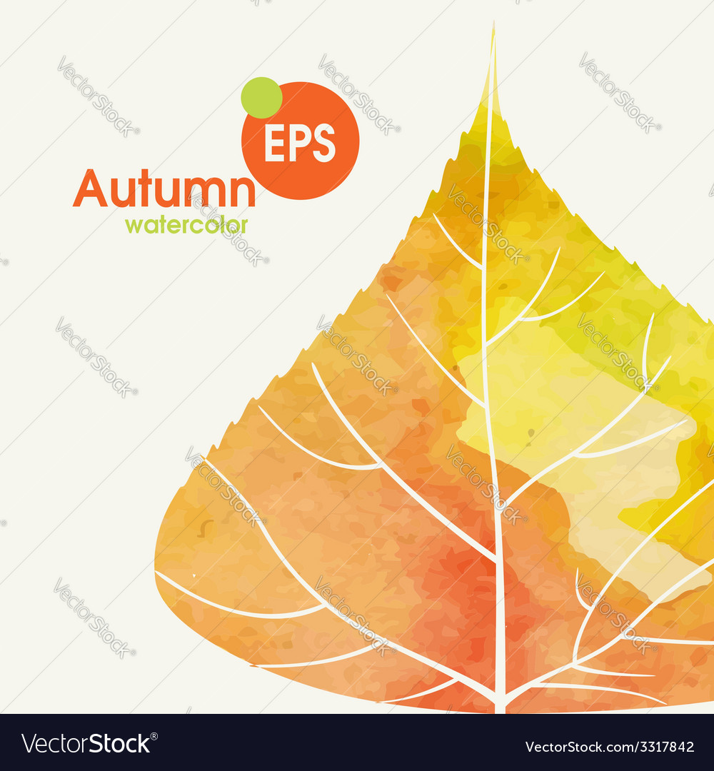 Simple autumn background vector | Price: 1 Credit (USD $1)