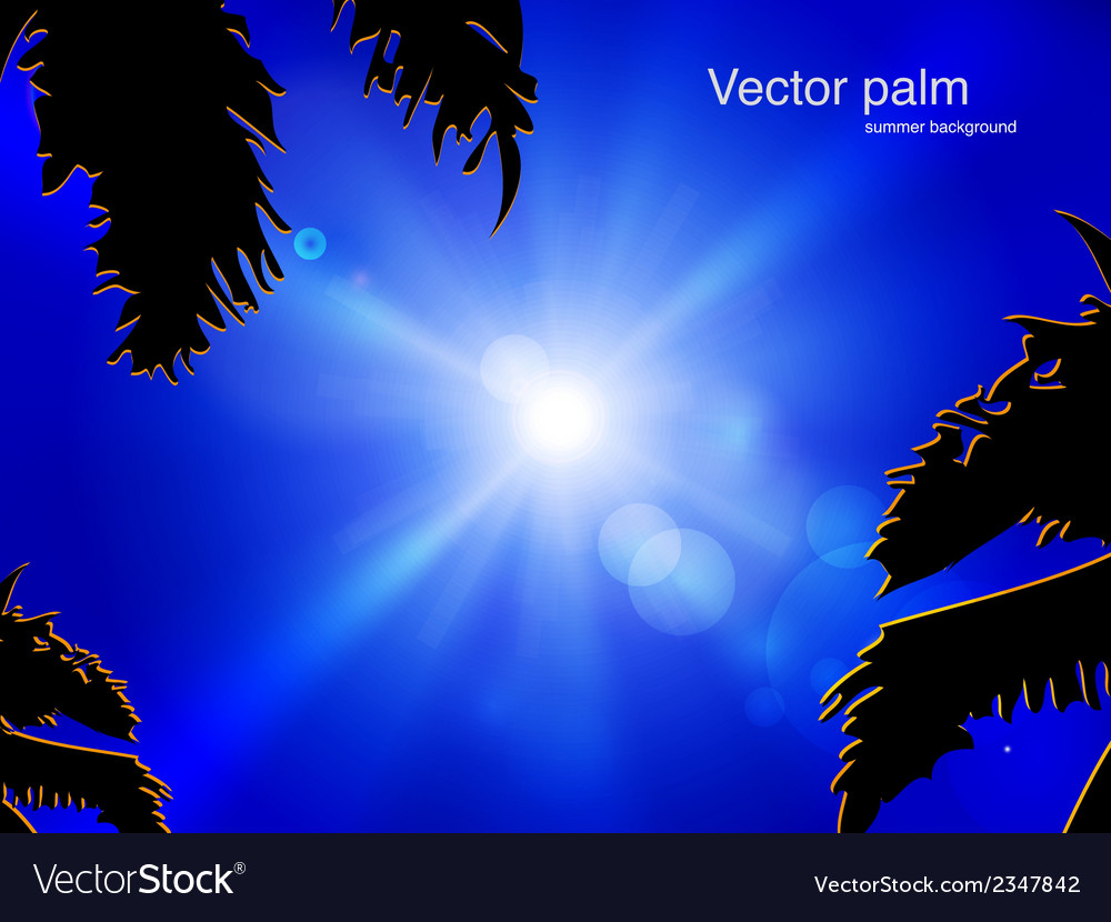Sun on blue sky vector | Price: 1 Credit (USD $1)