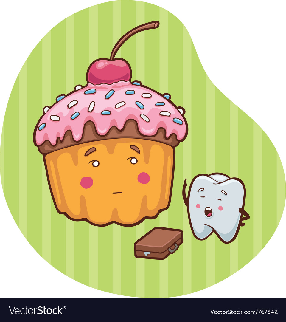 Sweets and teeth vector | Price: 3 Credit (USD $3)