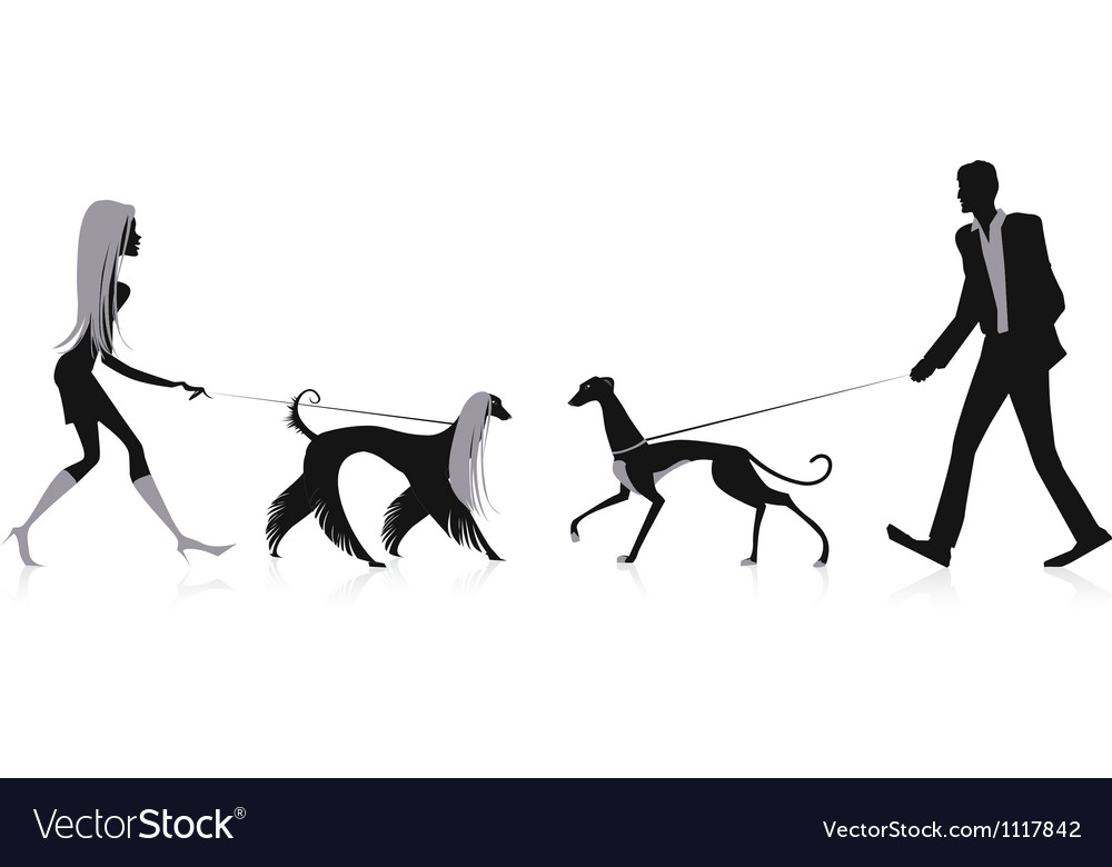 Walking dogs vector | Price: 1 Credit (USD $1)