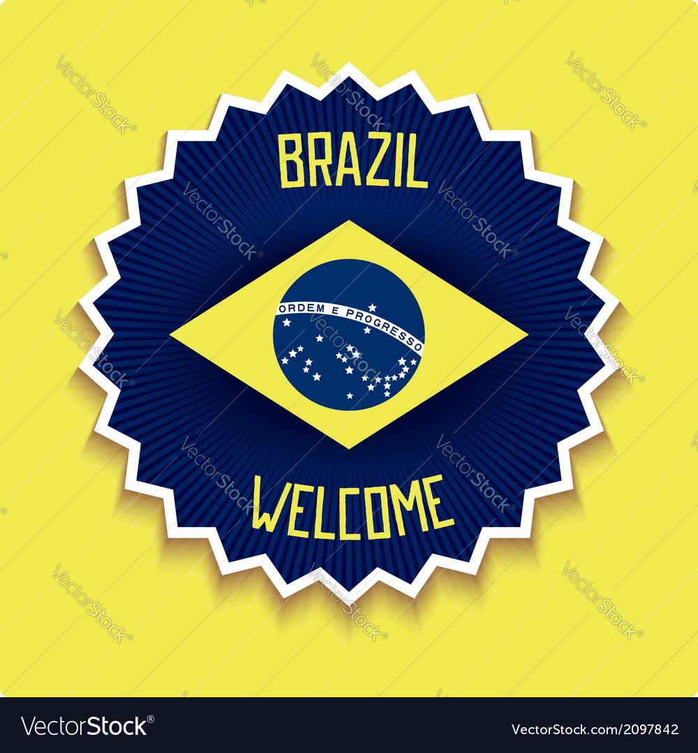 Welcome to brazil sign vector | Price: 1 Credit (USD $1)