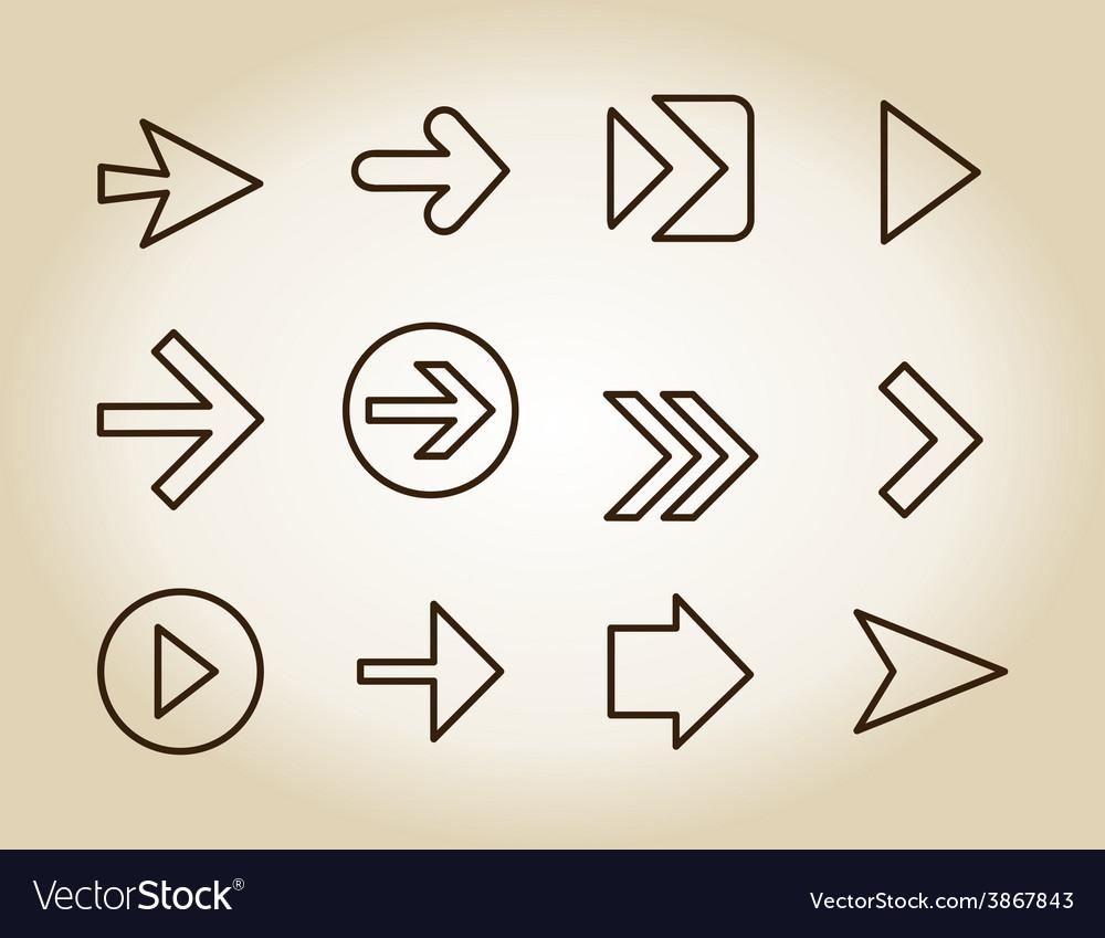 Arrow outline icon vector   Price: 1 Credit (USD $1)