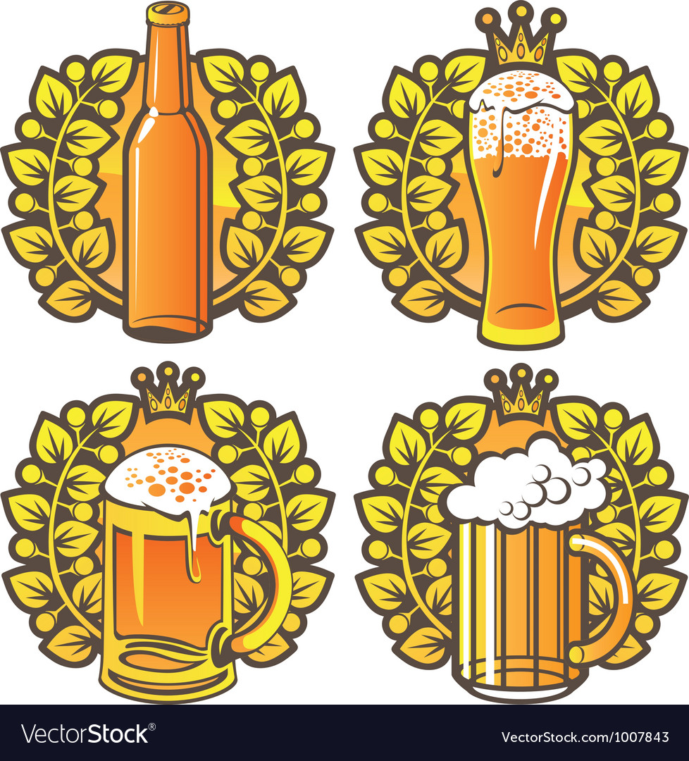 Beer glasses vector | Price: 3 Credit (USD $3)