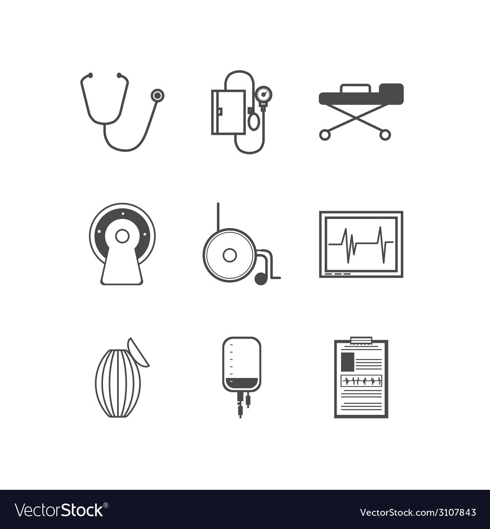Black icons for resuscitation vector | Price: 1 Credit (USD $1)