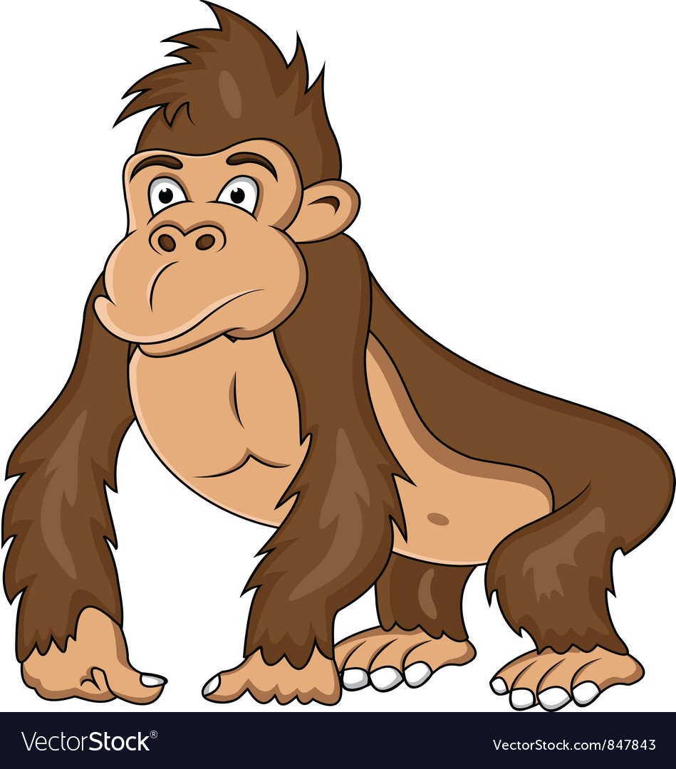 Gorilla cartoon vector | Price: 3 Credit (USD $3)