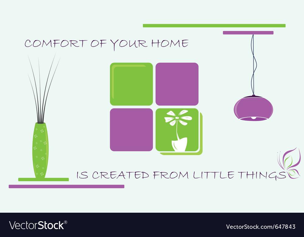Home comfort vector | Price: 1 Credit (USD $1)