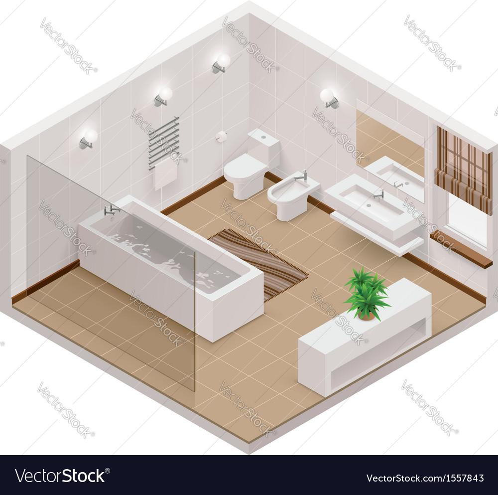 Isometric bathroom icon vector | Price: 1 Credit (USD $1)