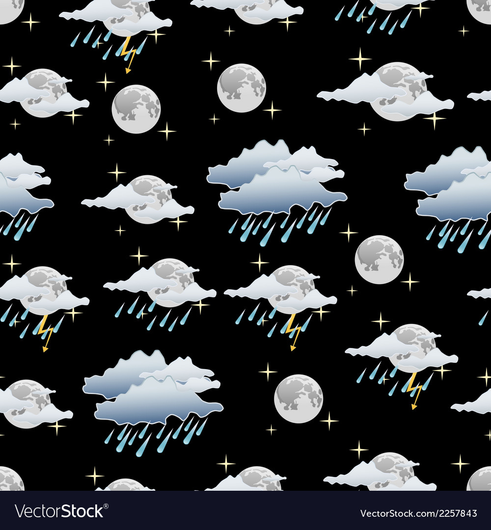 Night weather seamless background vector | Price: 1 Credit (USD $1)