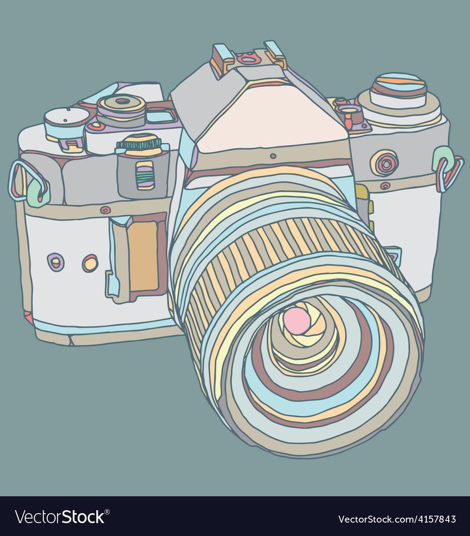 Old dslr camera vector | Price: 1 Credit (USD $1)