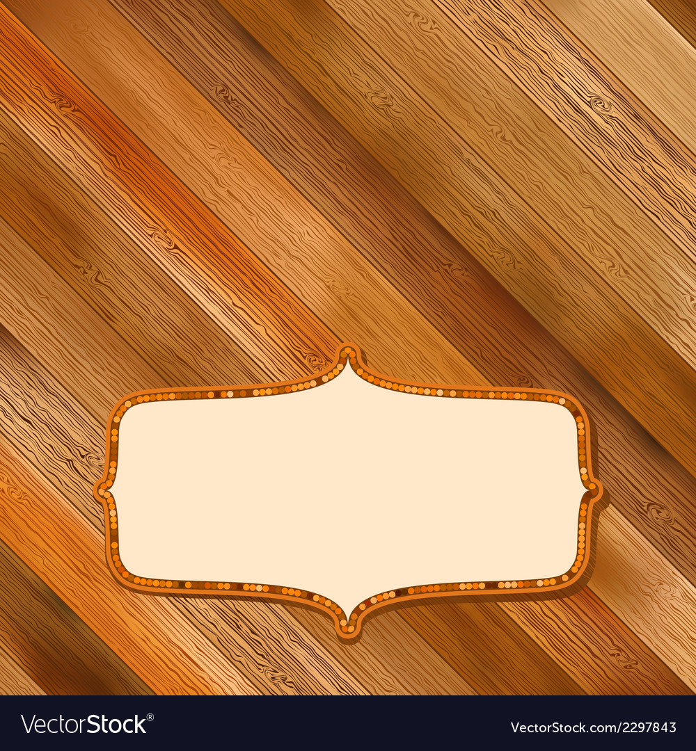 Retro wooden frame with space  eps8 vector | Price: 1 Credit (USD $1)