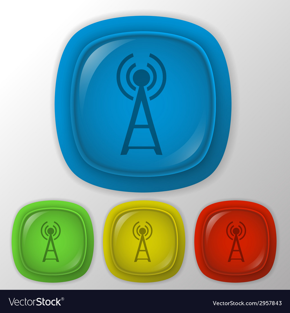 Tower of the wi fi vector | Price: 1 Credit (USD $1)