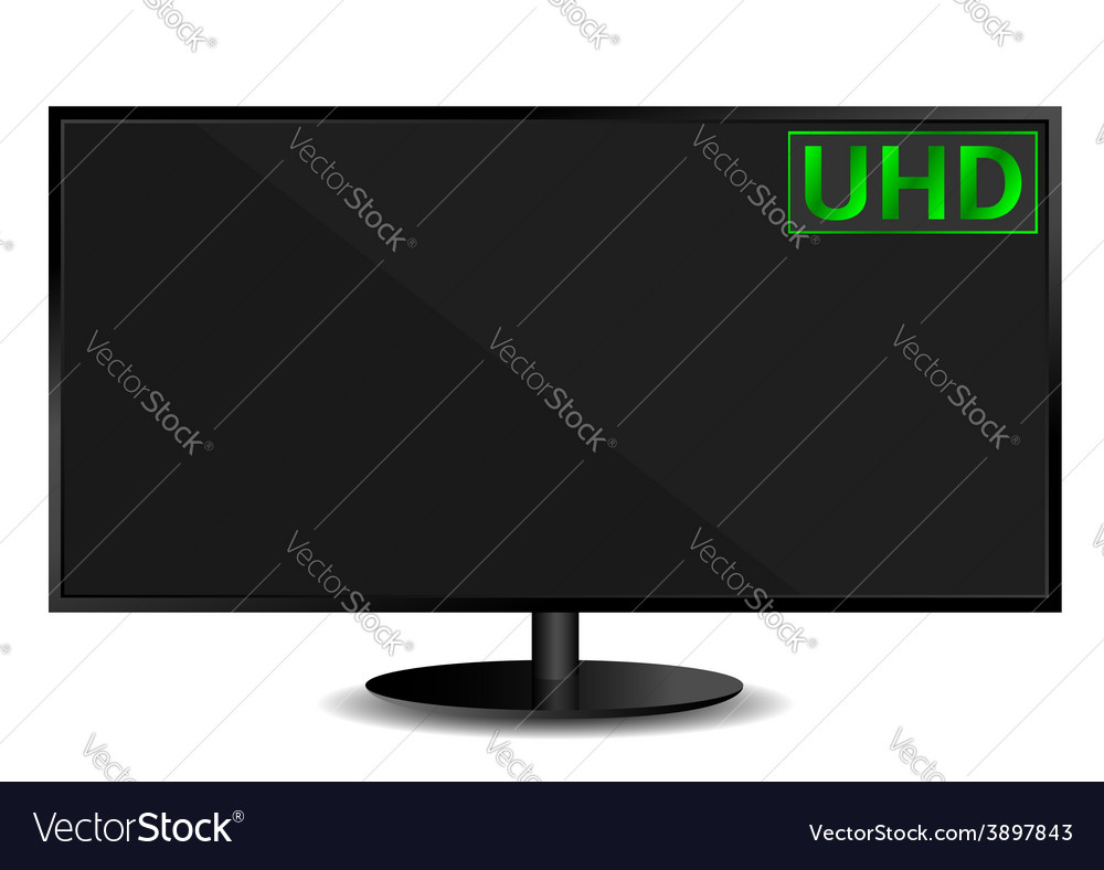Ultra high definition television vector | Price: 1 Credit (USD $1)