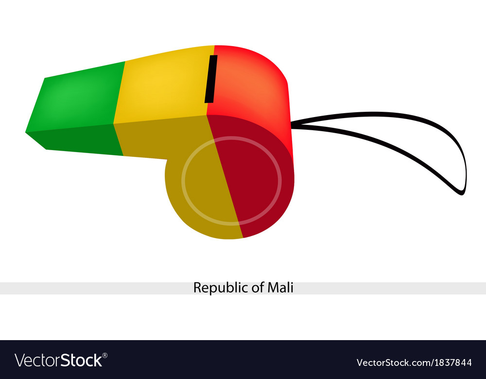 A whistle of the republic of mali vector | Price: 1 Credit (USD $1)