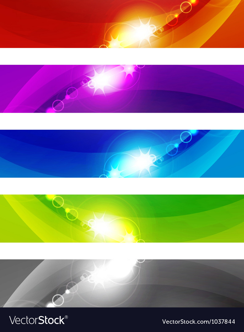Abstract color shiny banners vector   Price: 1 Credit (USD $1)