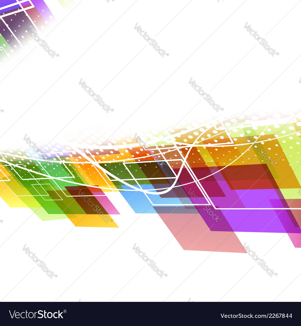Bright colorful abstract wave template vector | Price: 1 Credit (USD $1)