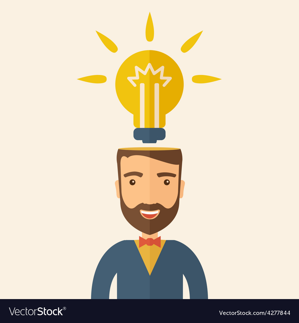 Bright idea of man vector | Price: 1 Credit (USD $1)