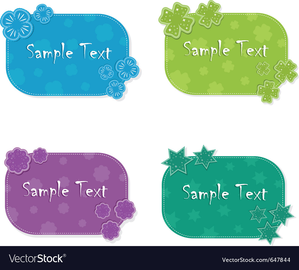 Colorful cards vector | Price: 1 Credit (USD $1)