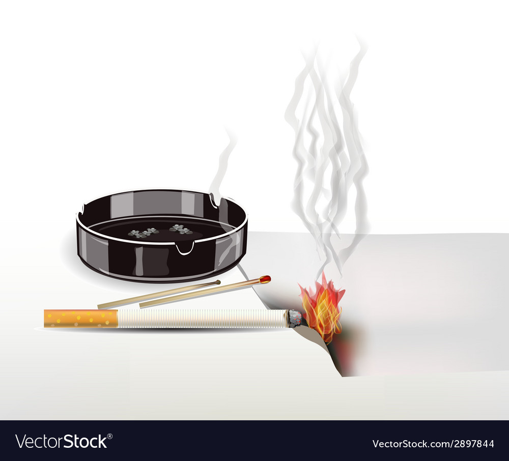 Fire cigarettes are not extinguished vector | Price: 1 Credit (USD $1)