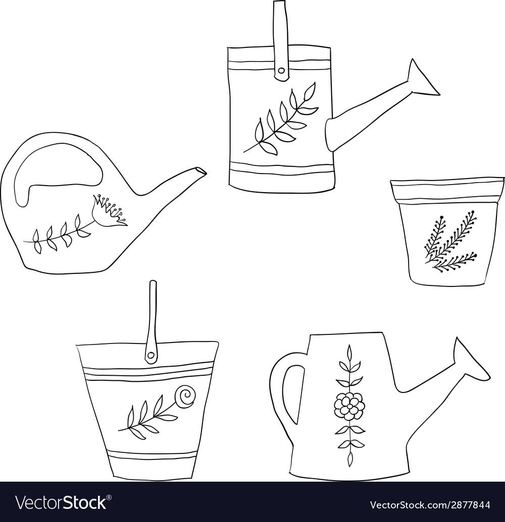 Gardening design elements vector | Price: 1 Credit (USD $1)