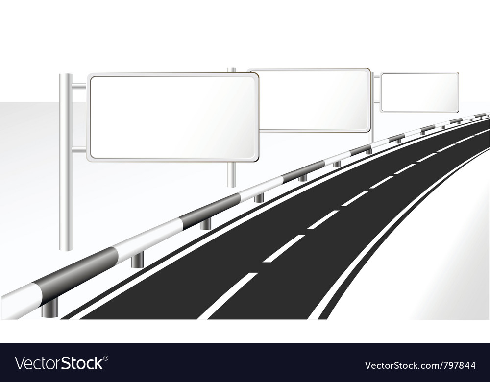 Highway and banner ads vector | Price: 1 Credit (USD $1)