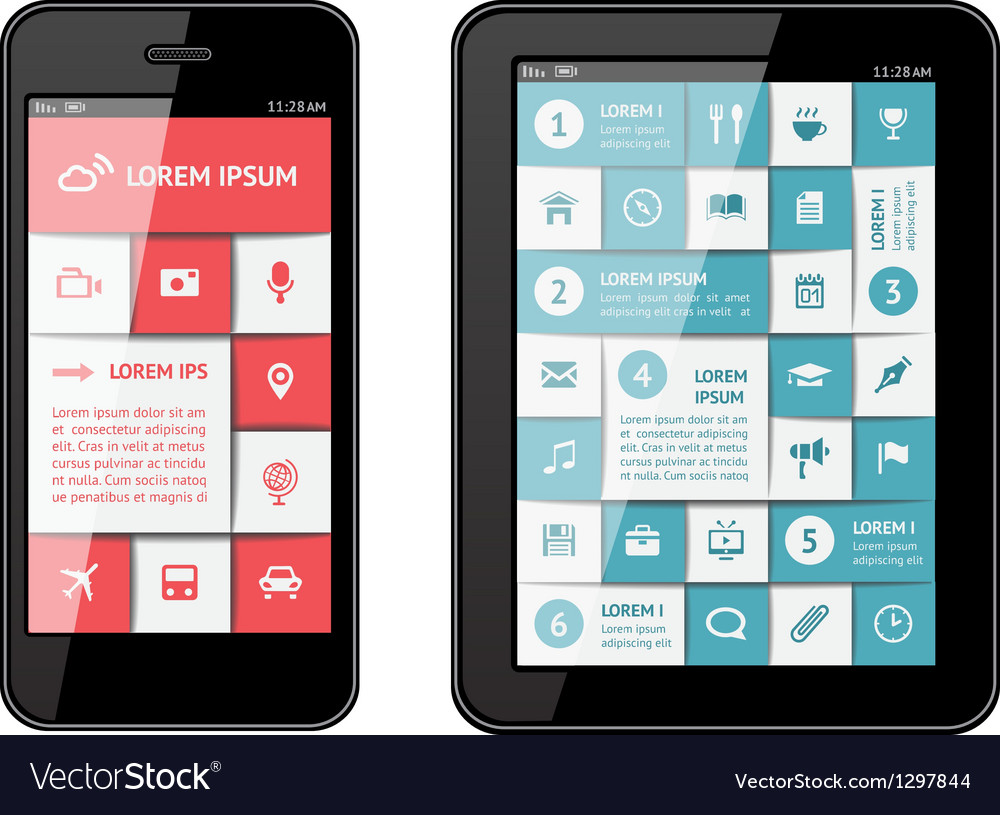Isolated gadgets with design elements vector   Price: 1 Credit (USD $1)