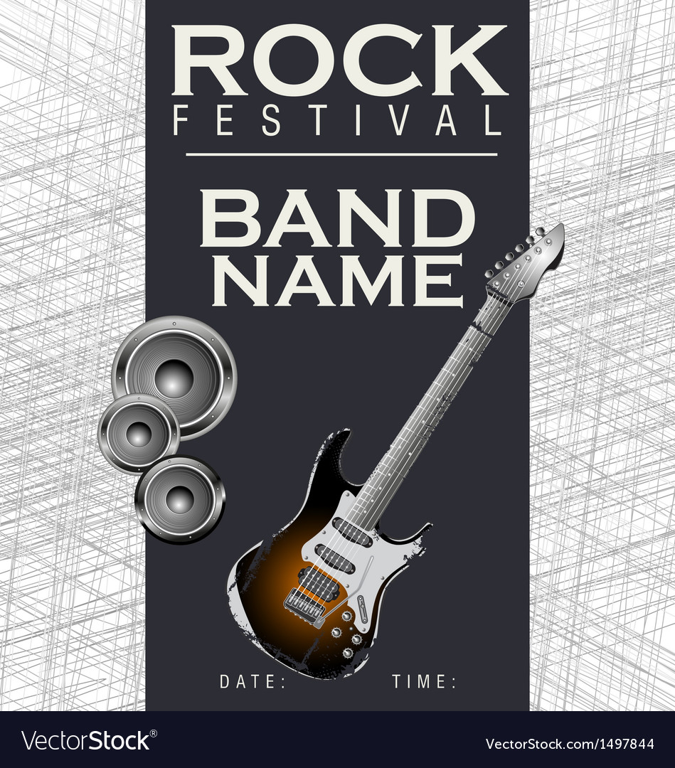 Rock festival background vector | Price: 1 Credit (USD $1)