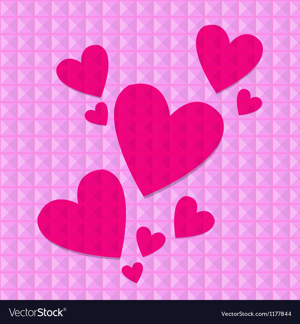 Shocking pink hearts vector | Price: 1 Credit (USD $1)