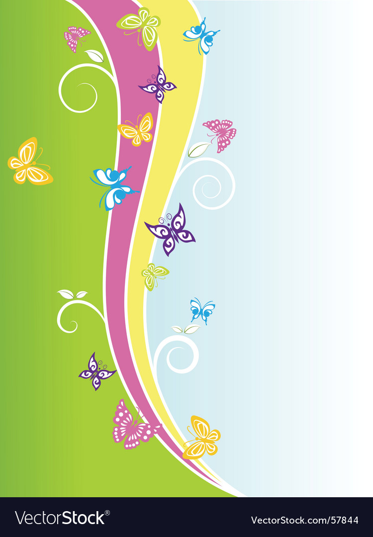 Spring butterflies vector | Price: 1 Credit (USD $1)