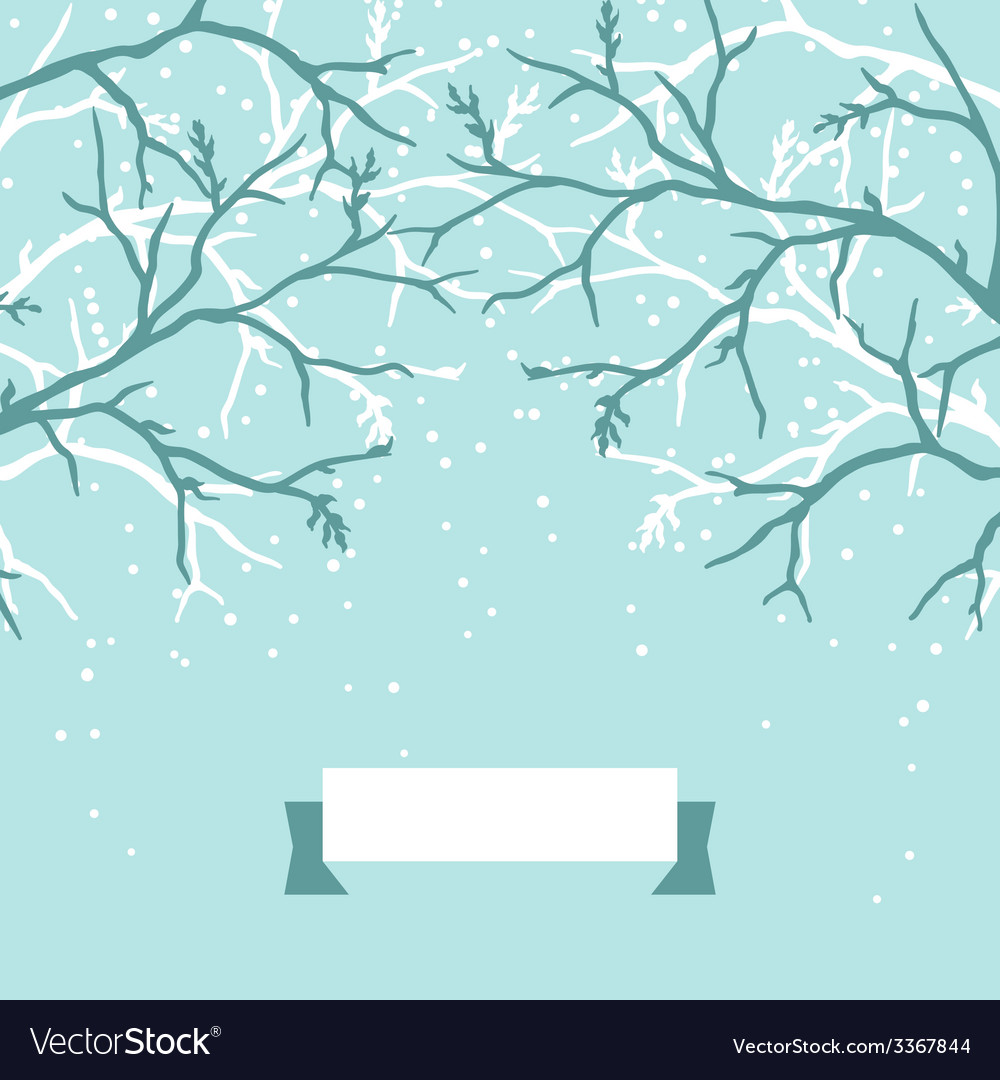 Winter background design with stylized tree vector