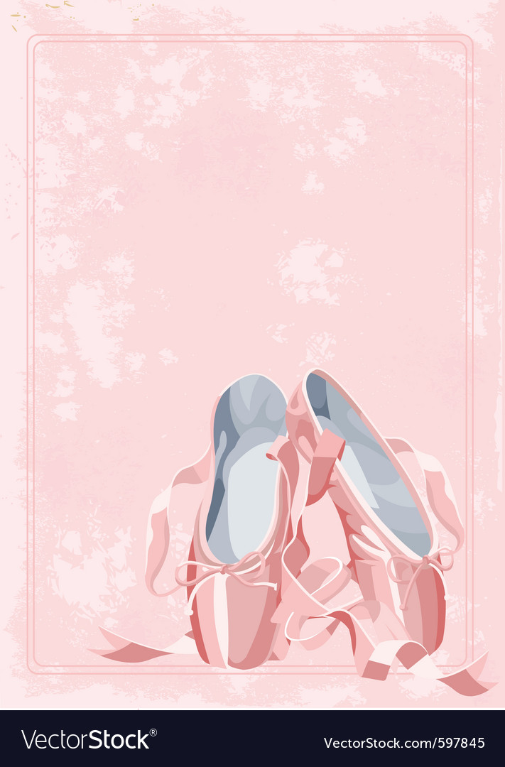 Ballet pointe shoes vector | Price: 1 Credit (USD $1)