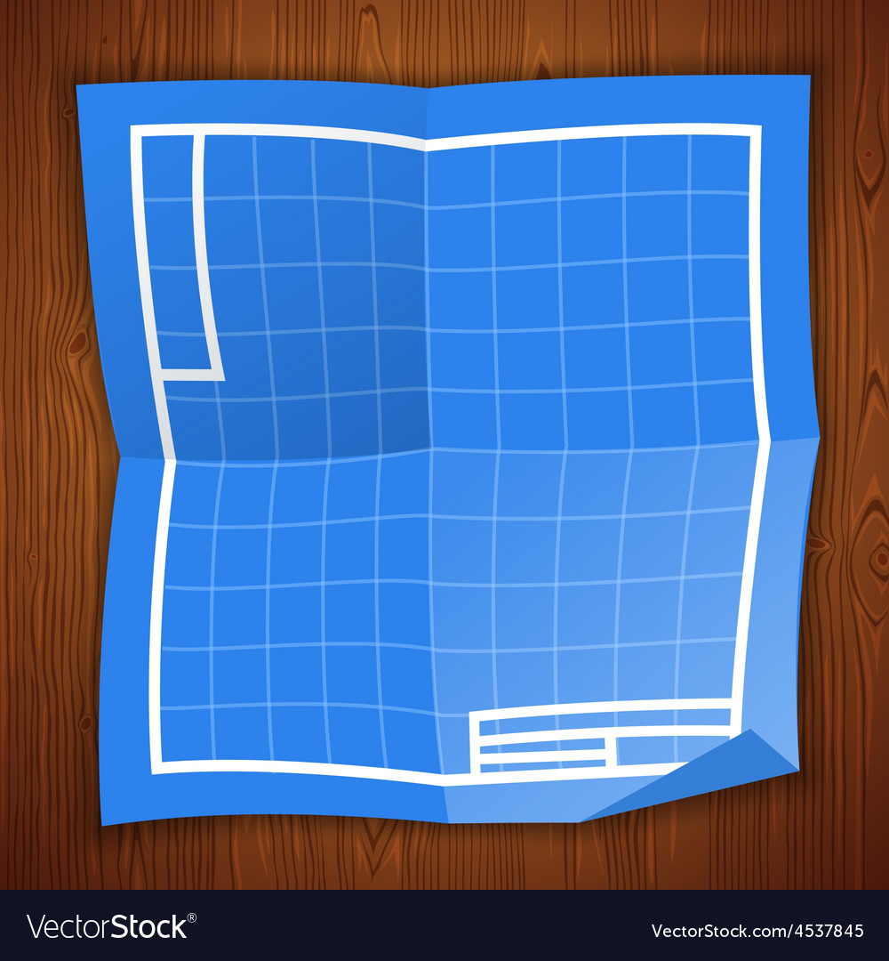 Blueprint background on wooden surface vector   Price: 3 Credit (USD $3)