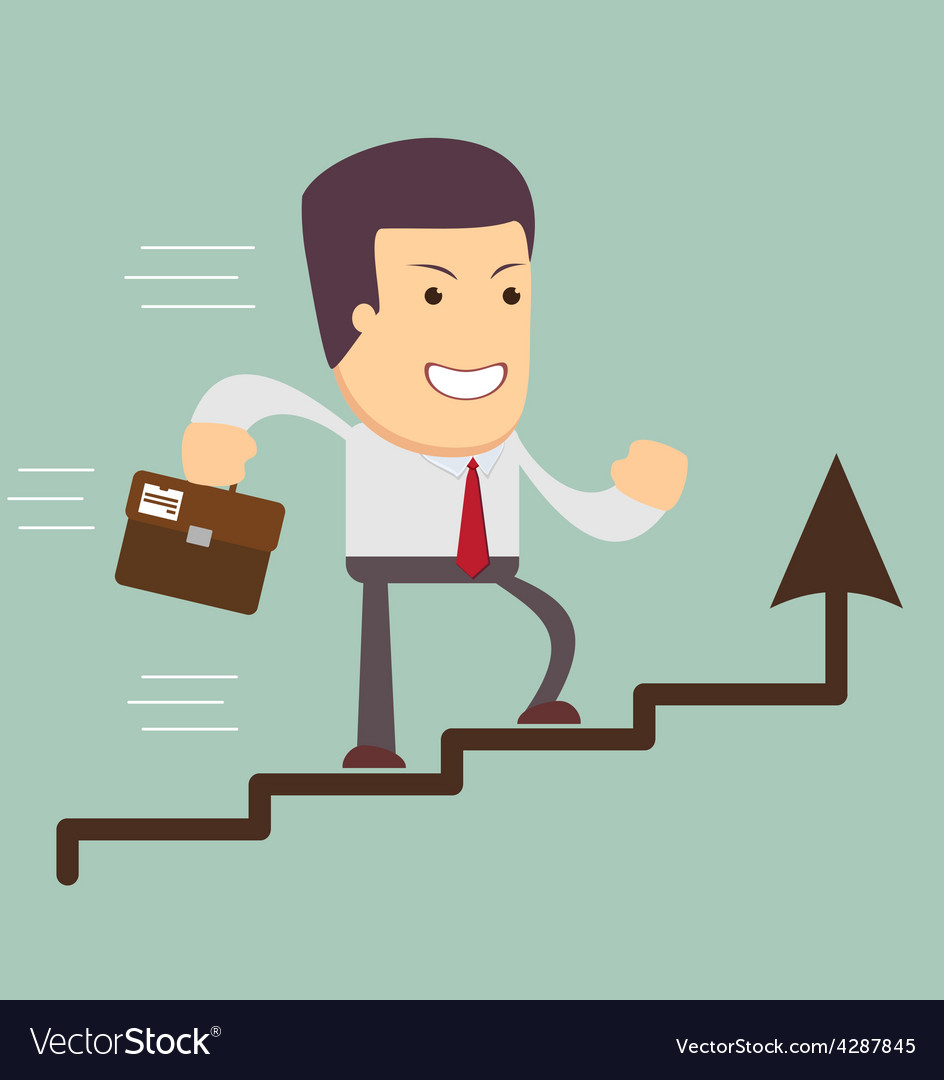 Businessman run in a growth vector | Price: 1 Credit (USD $1)